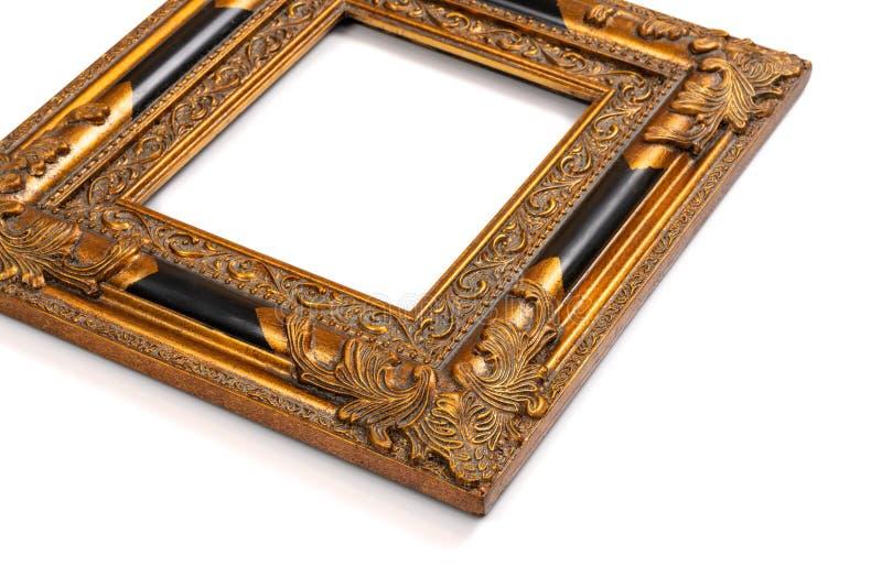 Рамка богато украшенного винтажного стиля золотая стоковые фотографии rf