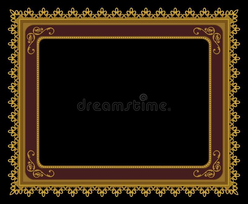 рамка богато украшенный иллюстрация вектора