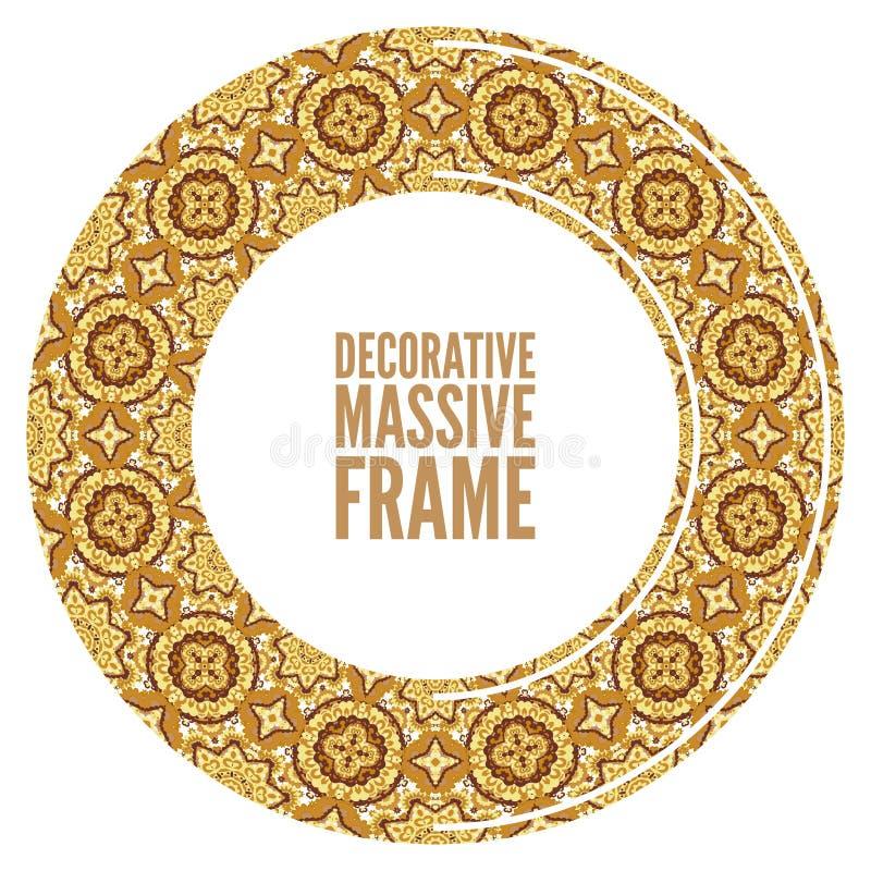 Рамка вектора богато украшенная в викторианском стиле Декоративный элемент для дизайна и место для текста иллюстрация вектора