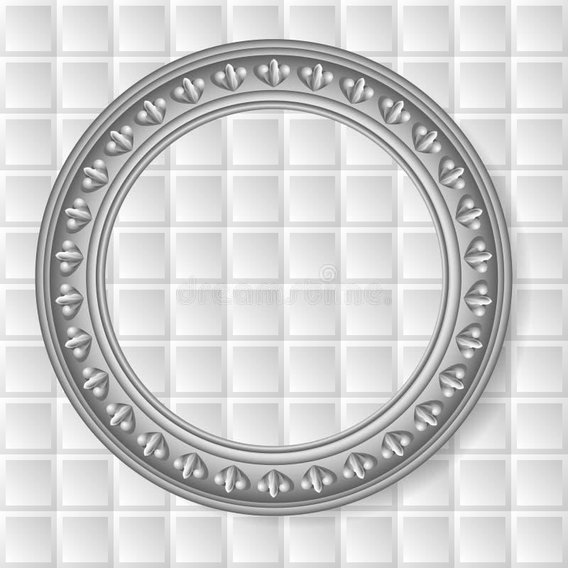 Рамка вектора серая круговая иллюстрация вектора