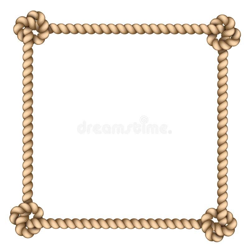 Рамка веревочки иллюстрация вектора