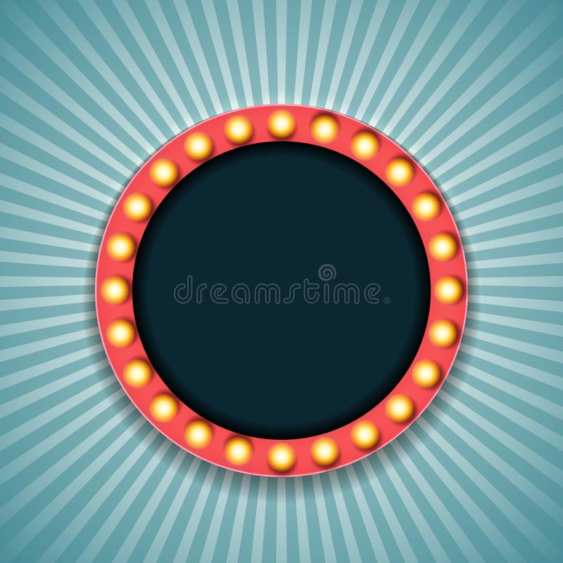 Рамка винтажного света 3d ретро также вектор иллюстрации притяжки corel бесплатная иллюстрация