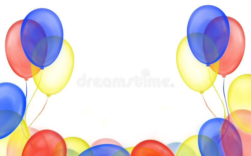 рамка воздушного шара иллюстрация вектора