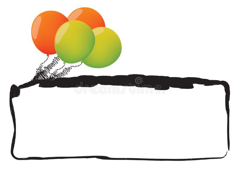 Download рамка воздушного шара иллюстрация штока. иллюстрации насчитывающей праздник - 6851862