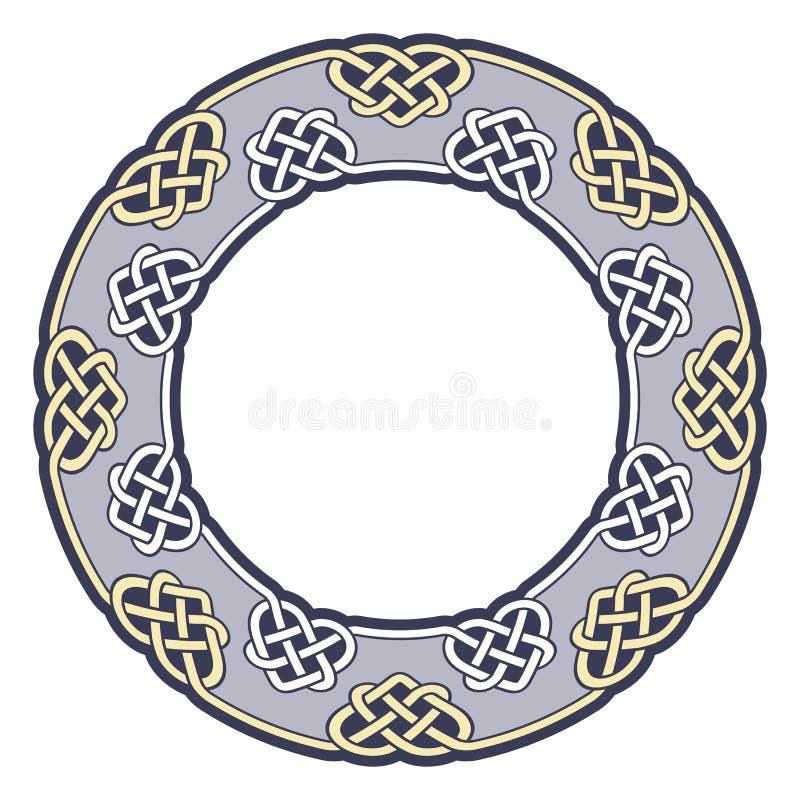 Рамка в кельтском стиле иллюстрация вектора