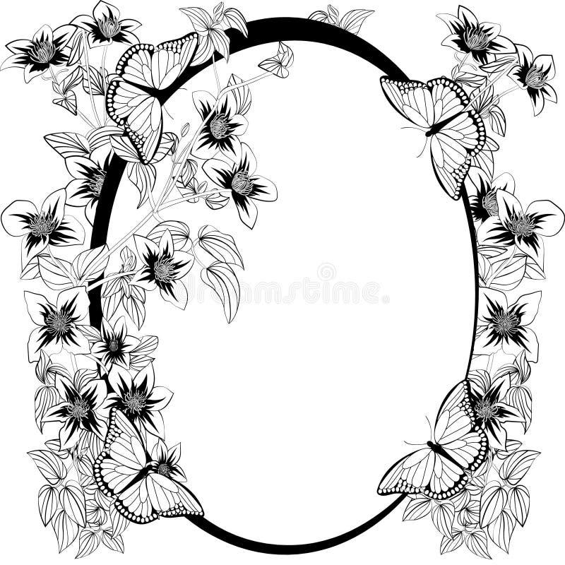 Рамка в орнаменте цветка стоковые фотографии rf