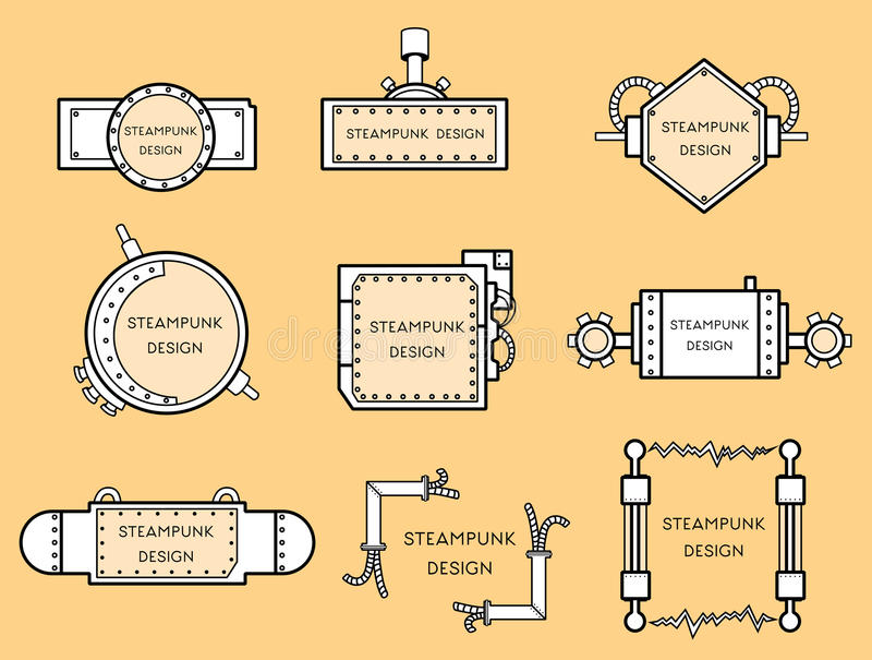 Рамка в стиле steampunk иллюстрация вектора
