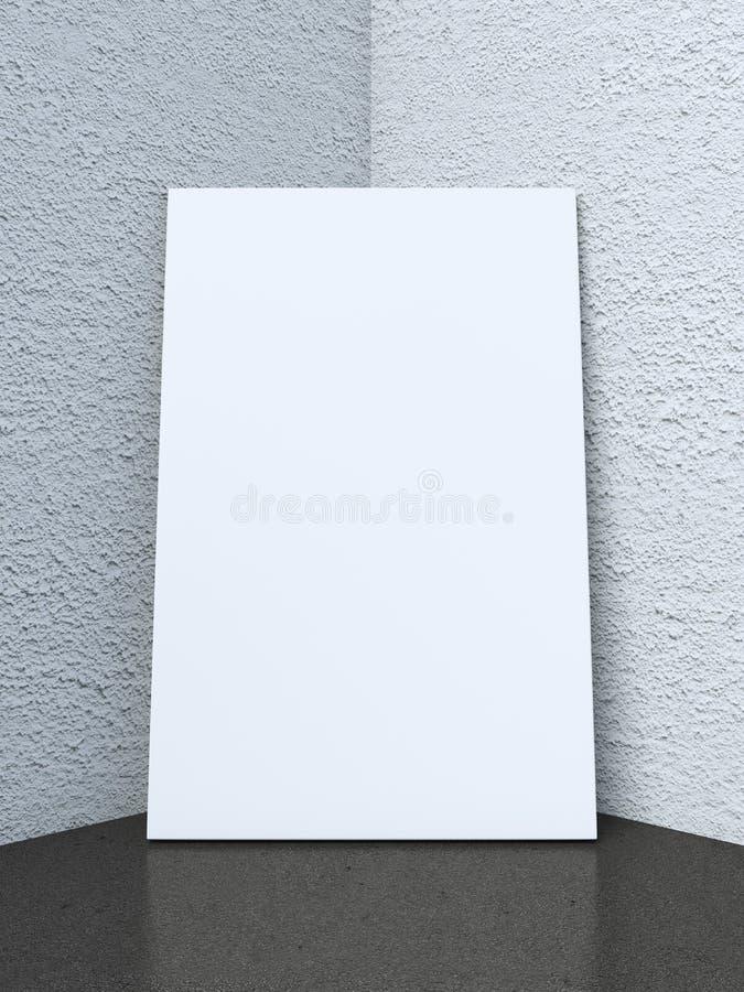 Рамка в угле интерьера с черным полом стоковое изображение