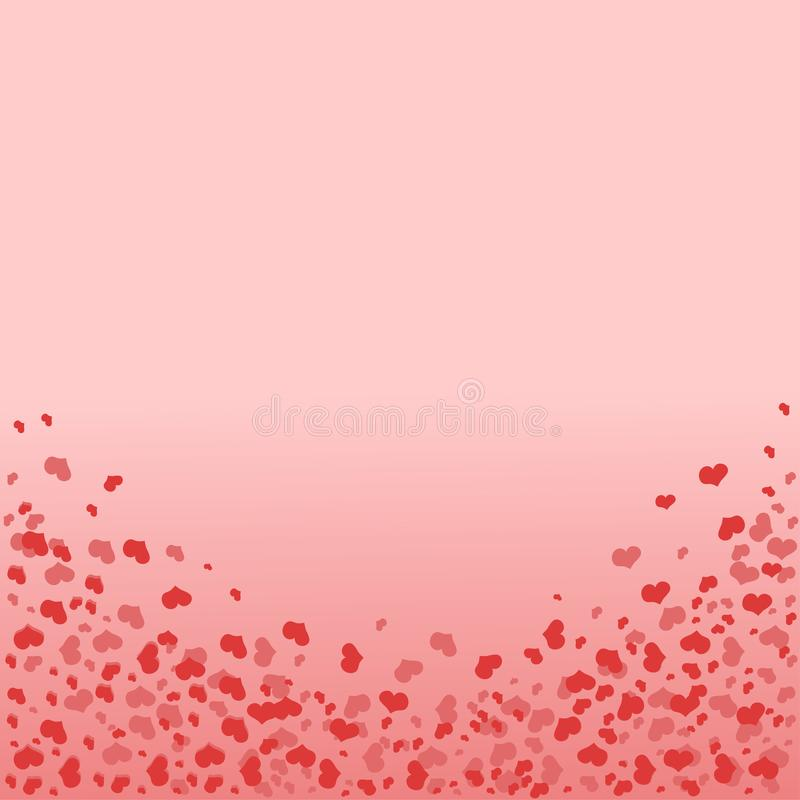 Рамка в форме свода с сердцами Предпосылка с сердцами в красно-розовом цвете Картина вектора бесплатная иллюстрация