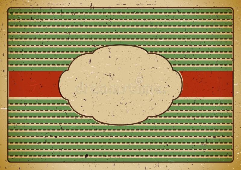Рамка год сбора винограда на картоне бесплатная иллюстрация