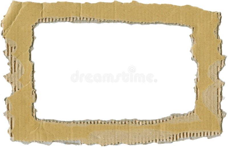рамка гофрированная картоном стоковая фотография