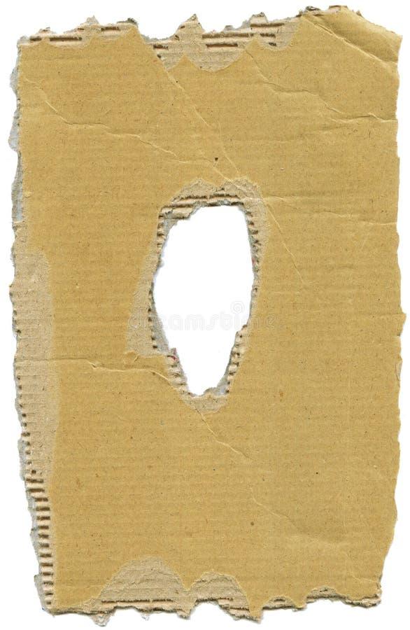 рамка гофрированная картоном стоковое фото