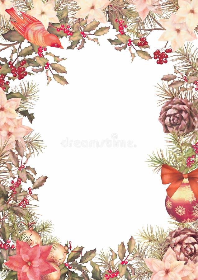 Рамка года сбора винограда рождества бесплатная иллюстрация