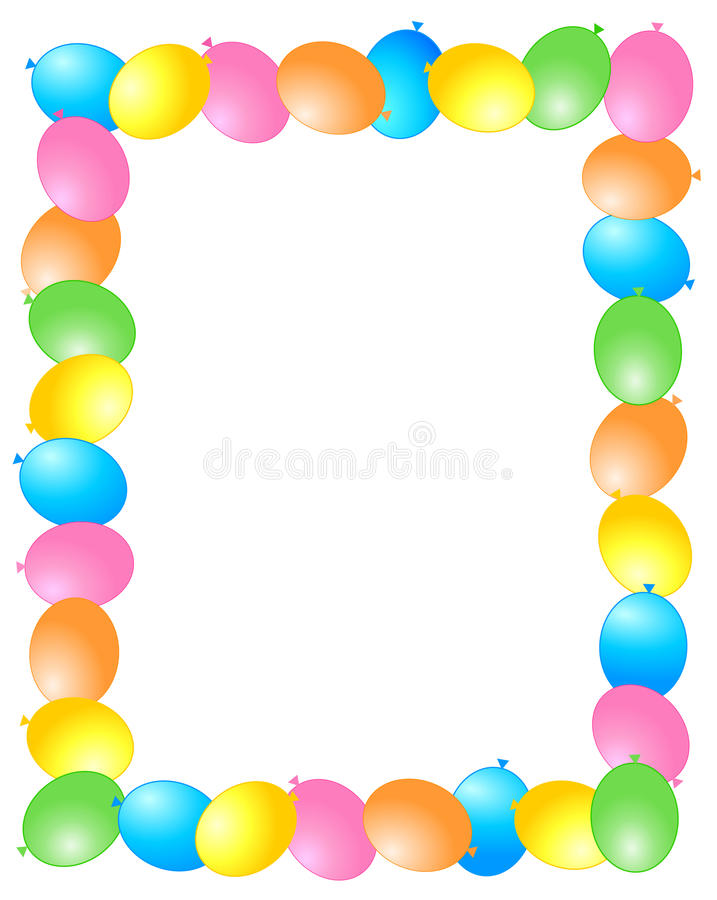 рамка граници воздушных шаров бесплатная иллюстрация