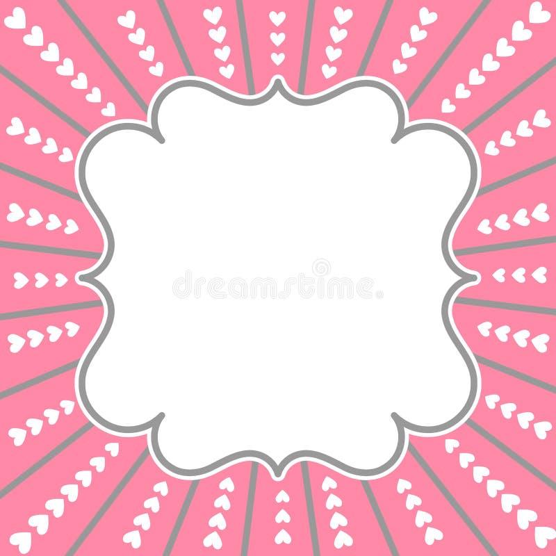 Рамка границы карточки дня валентинок иллюстрация штока