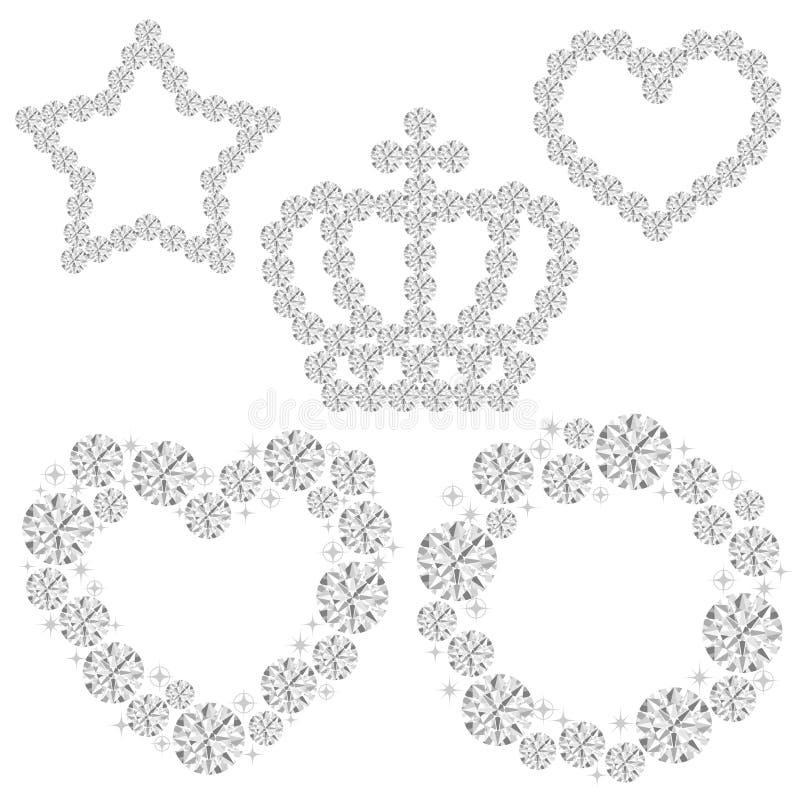 рамка диаманта бесплатная иллюстрация