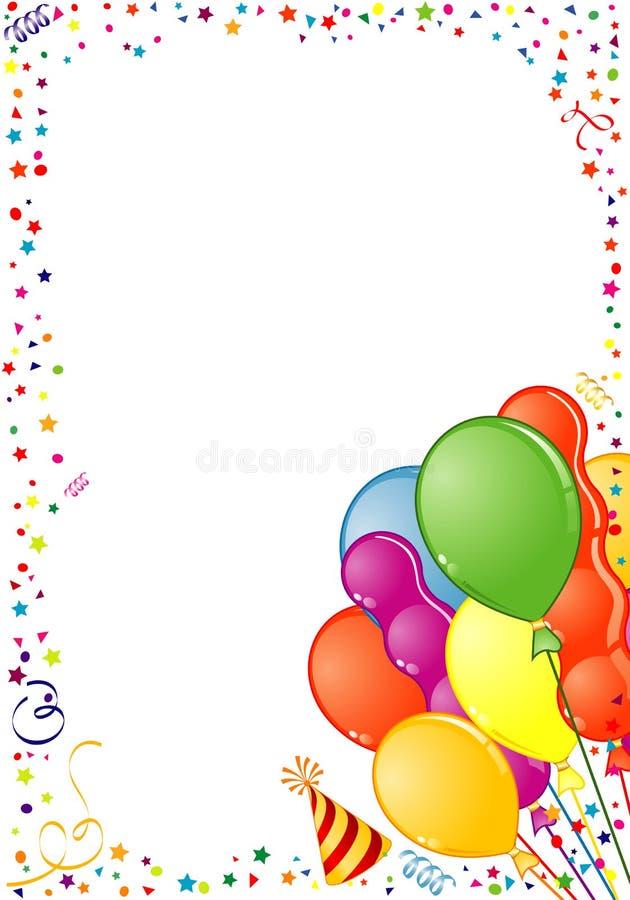 рамка дня рождения бесплатная иллюстрация