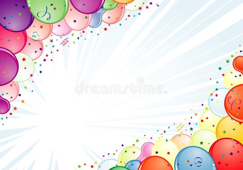 рамка дня рождения иллюстрация штока