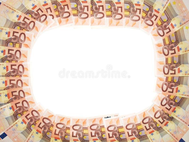 рамка евро 50 стоковые фото
