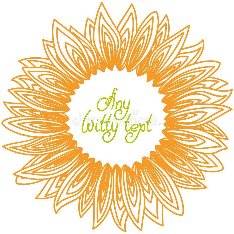 Рамка лепестков солнцецвета бесплатная иллюстрация