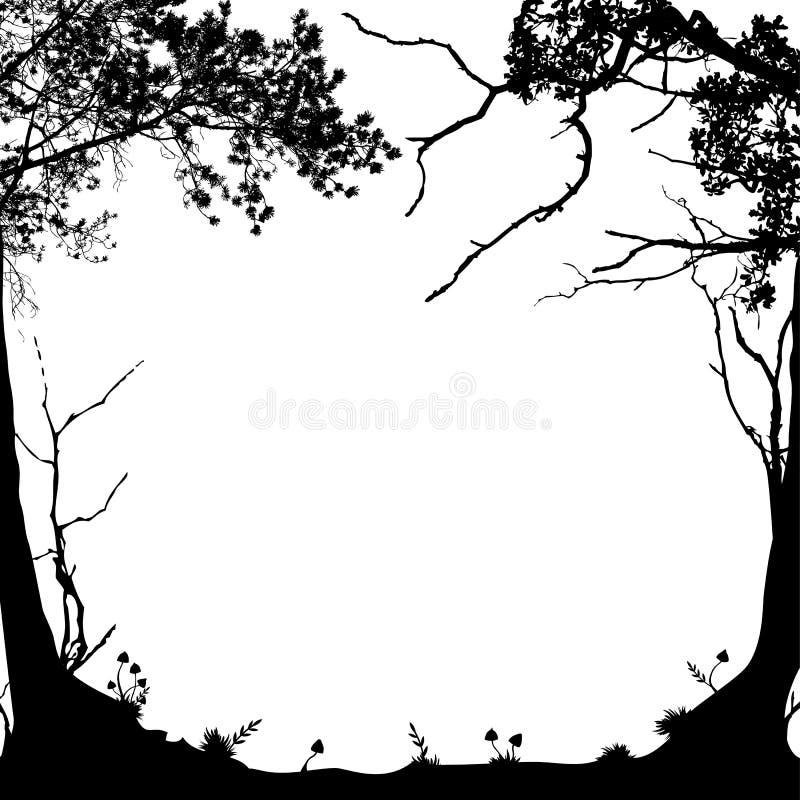 Рамка леса иллюстрация штока