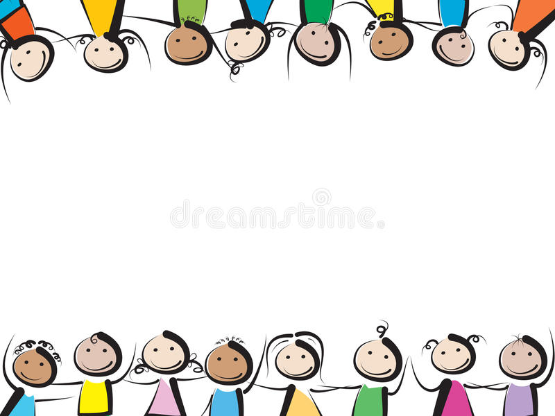 Рамка детей иллюстрация штока