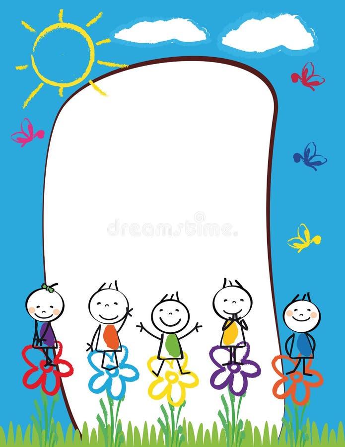 Рамка детей иллюстрация вектора