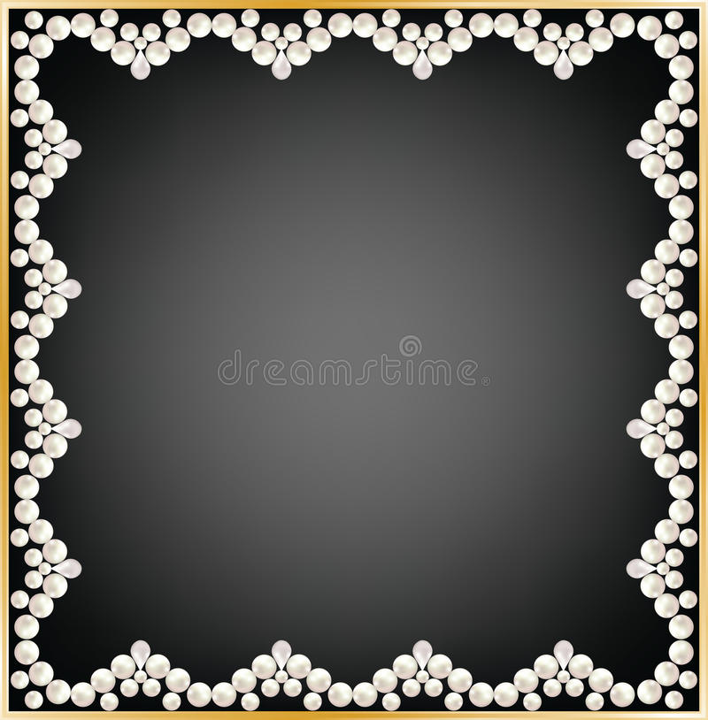 Рамка жемчуга иллюстрация вектора
