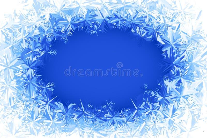 Рамка заморозка вектора иллюстрация штока