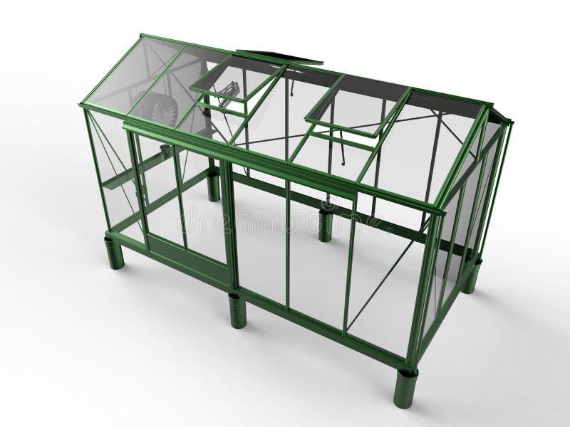 Рамка зеленого дома металлическая иллюстрация вектора