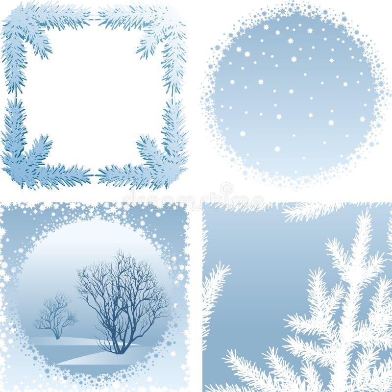 Рамка зимы иллюстрация вектора