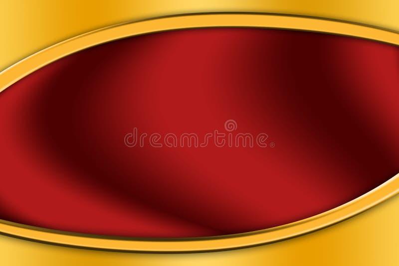 Рамка золота вокруг красной предпосылки стоковое изображение rf