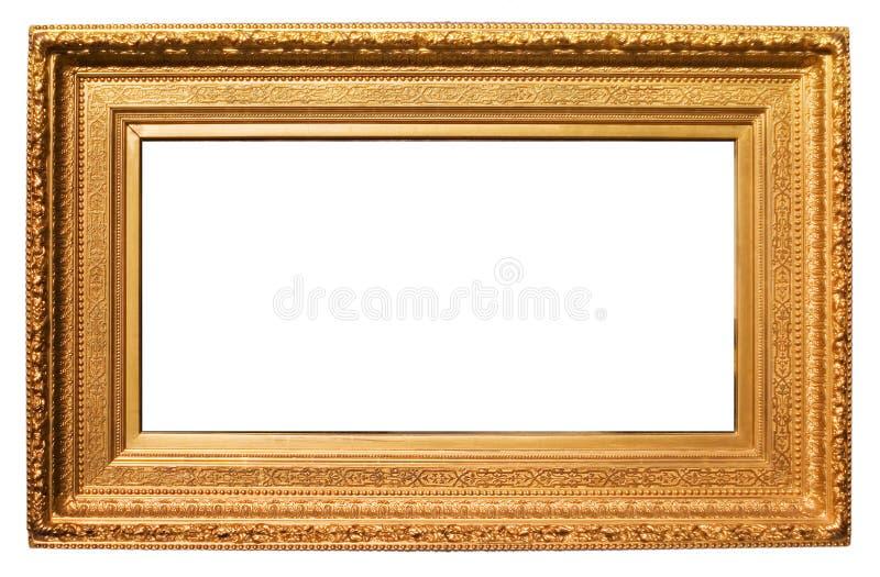 рамка золотистая стоковая фотография rf