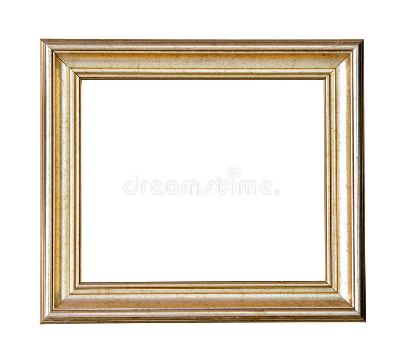 Рамка золота деревянная стоковое фото