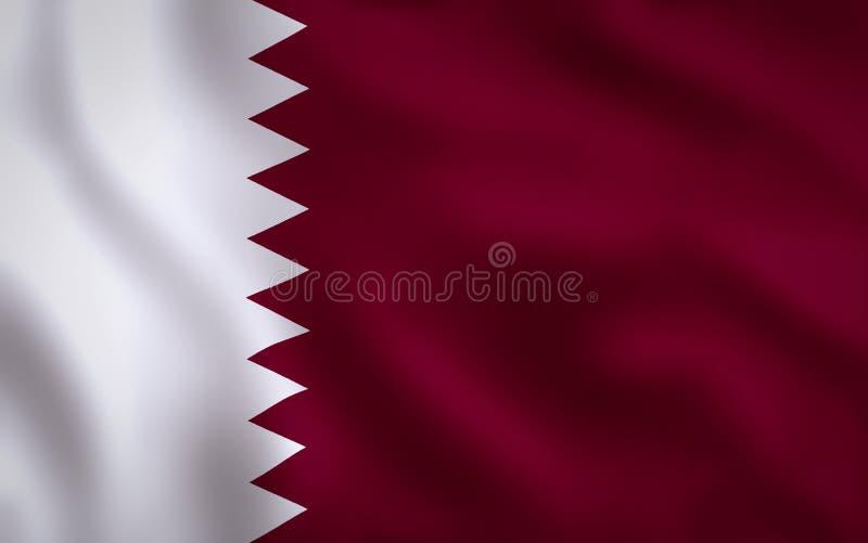 Рамка изображения флага Катара полная бесплатная иллюстрация