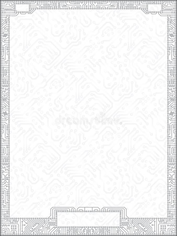 рамка диплома монтажной платы вектора Высок-техника бесплатная иллюстрация