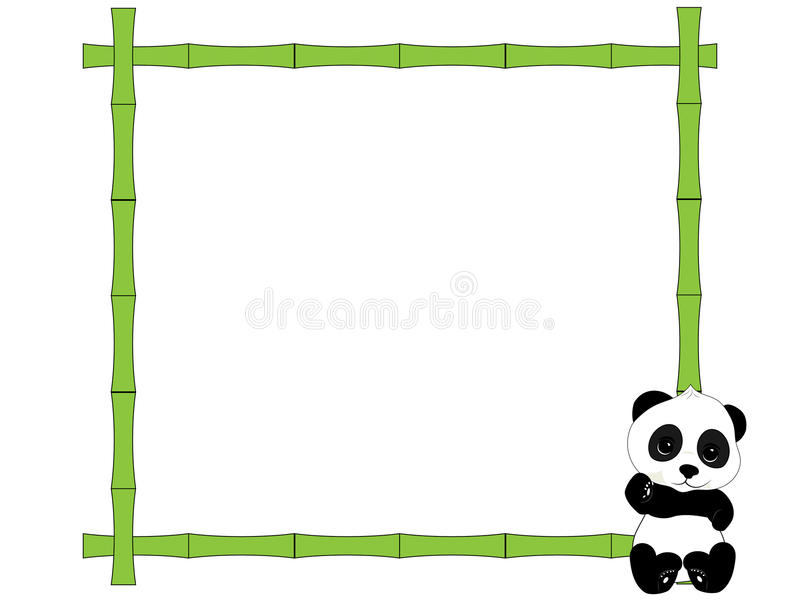 Рамка и панда иллюстрация штока