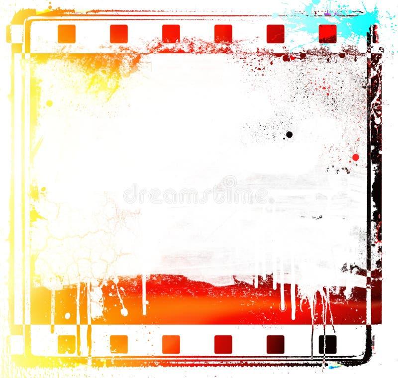 Рамка и скольжение прокладки фильма Grunge красочные иллюстрация штока