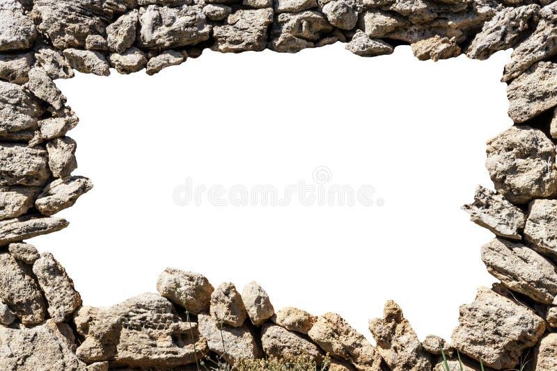 Рамка каменной стены с пустым отверстием иллюстрация вектора