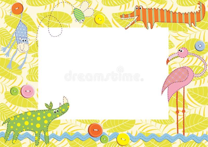 рамка карточки младенца иллюстрация штока