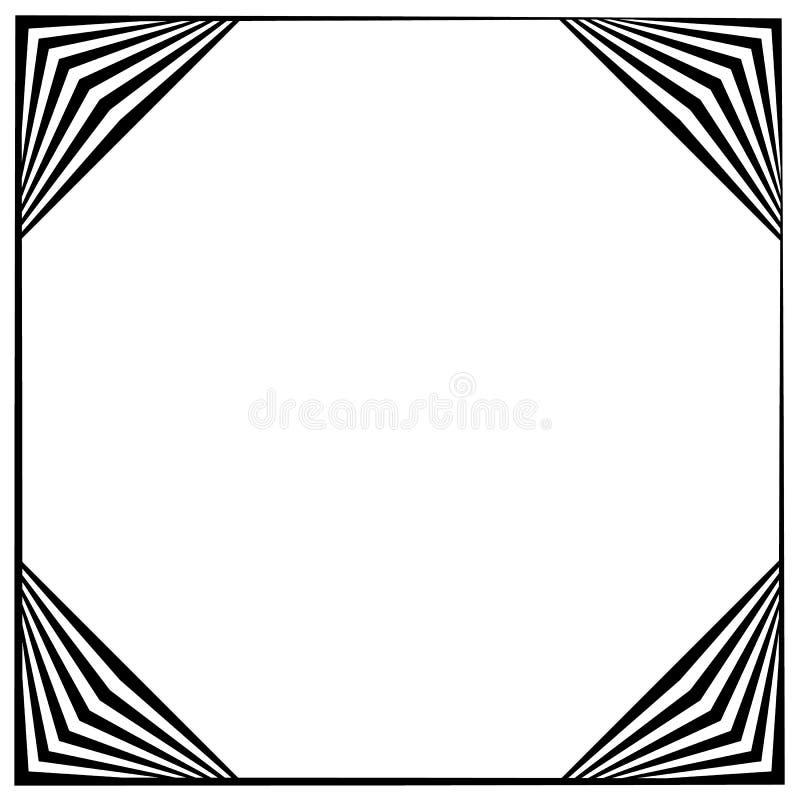 Download Рамка квадратного формата геометрическая, элемент границы с украшением на Иллюстрация вектора - иллюстрации насчитывающей край, четырехугольник: 81812248