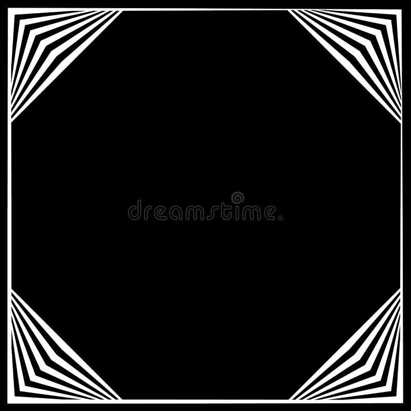 Download Рамка квадратного формата геометрическая, элемент границы с украшением на Иллюстрация вектора - иллюстрации насчитывающей элемент, график: 81812254
