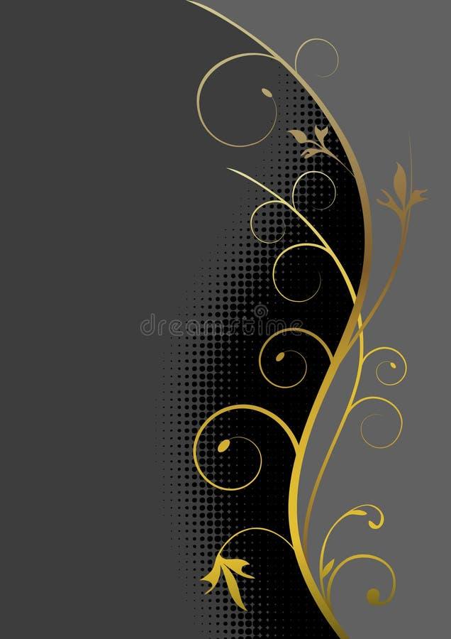 рамка конструкции золотистая иллюстрация штока