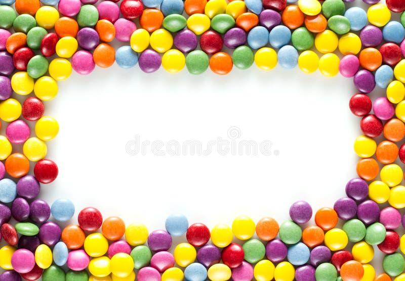Рамка конфет стоковая фотография rf