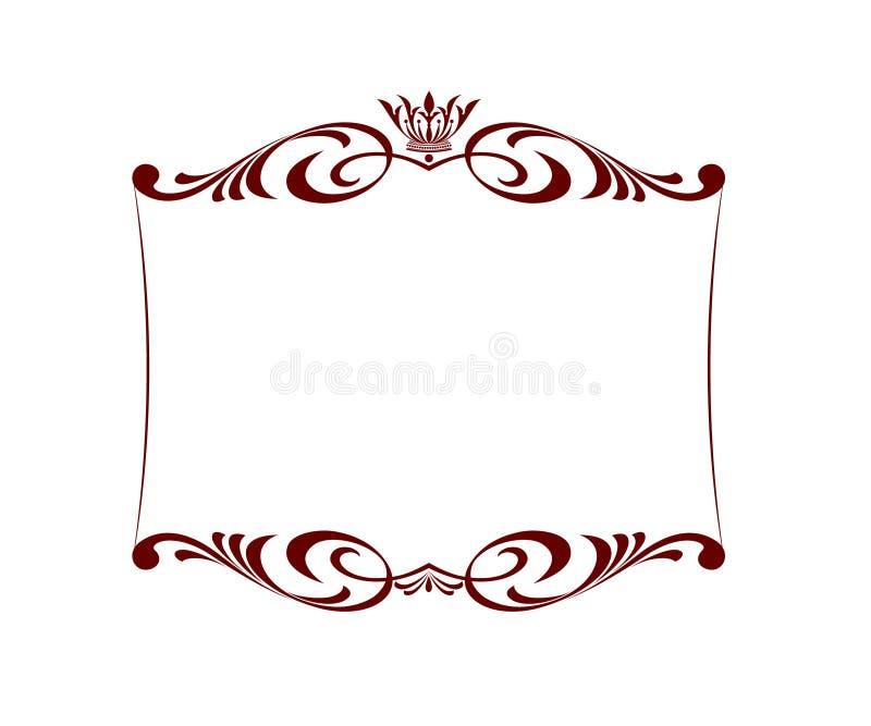 рамка королевская также вектор иллюстрации притяжки corel Белизна Брайна бесплатная иллюстрация