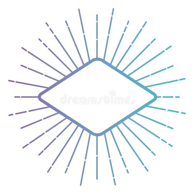 Рамка косоугольника с взрывом иллюстрация вектора