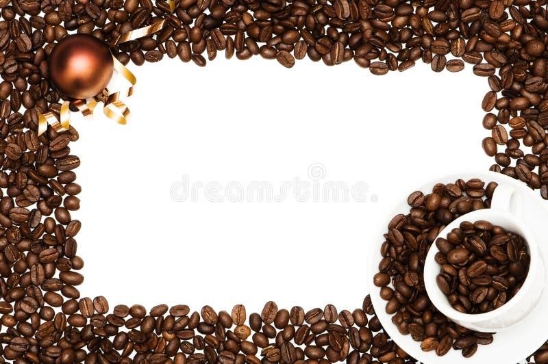 рамка кофе рождества стоковые изображения rf