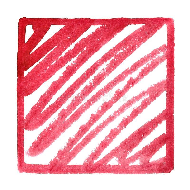 Рамка красной площади с doodle стоковые изображения rf