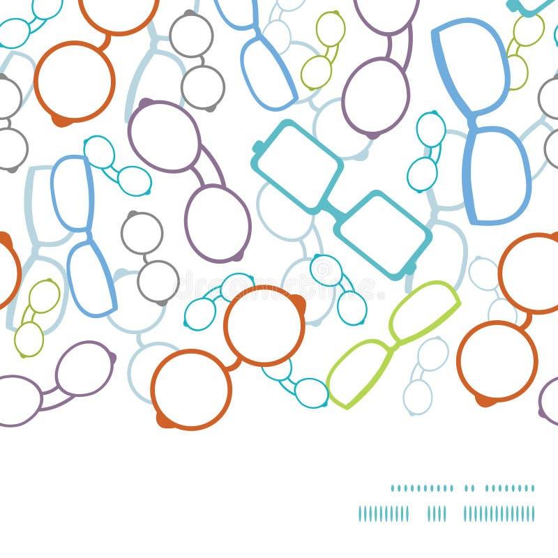 Рамка красочных стекел вектора горизонтальная безшовная бесплатная иллюстрация