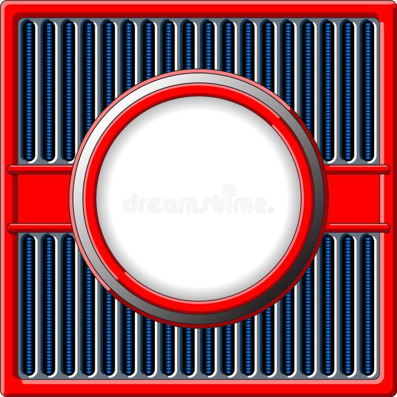 Рамка крома ретро иллюстрация вектора
